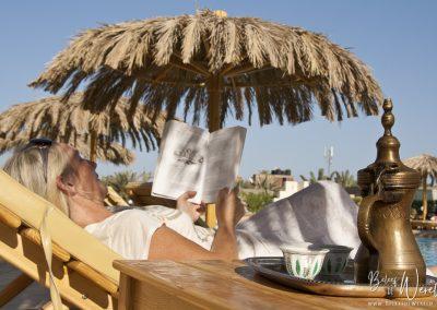 21 juli 2011 - Relaxen aan het zwembad in Dahab, Egypte
